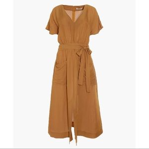 MADEWELL- Linen Blend Dolman Sleeve Midi Dress